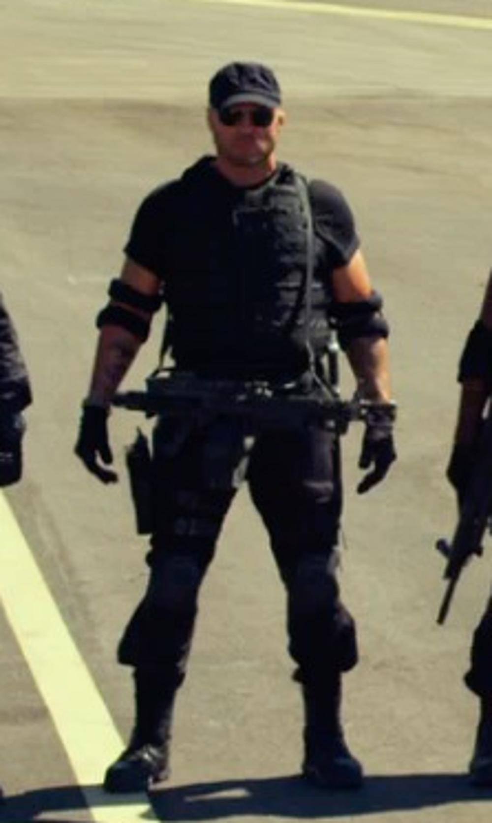 Randy Couture with 5.11 Tactical Utili T Shirts in The Expendables 3