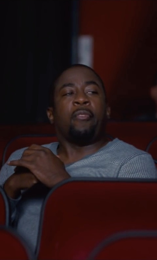 Keith Robinson  with Original Penguin Kris V-Neck Sweater in Trainwreck