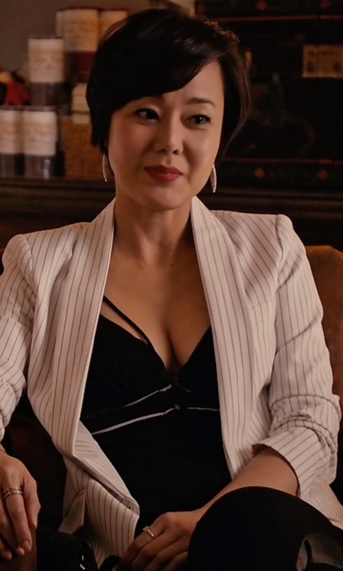 Yunjin Kim with BCBGmaxazria Kensey Top in Mistresses
