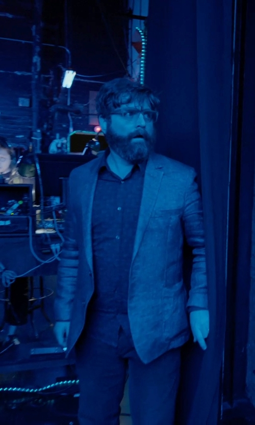 Zach Galifianakis with Calvin Klein Men's Fine Slub Sport Coat in Birdman