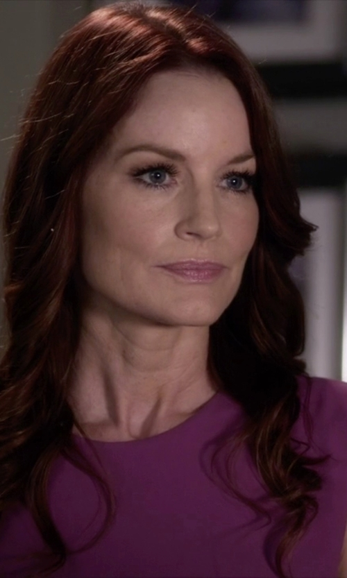 Laura Leighton with BCBGMAXAZRIA Lynzi Layered Asymmetrical Top in Pretty Little Liars