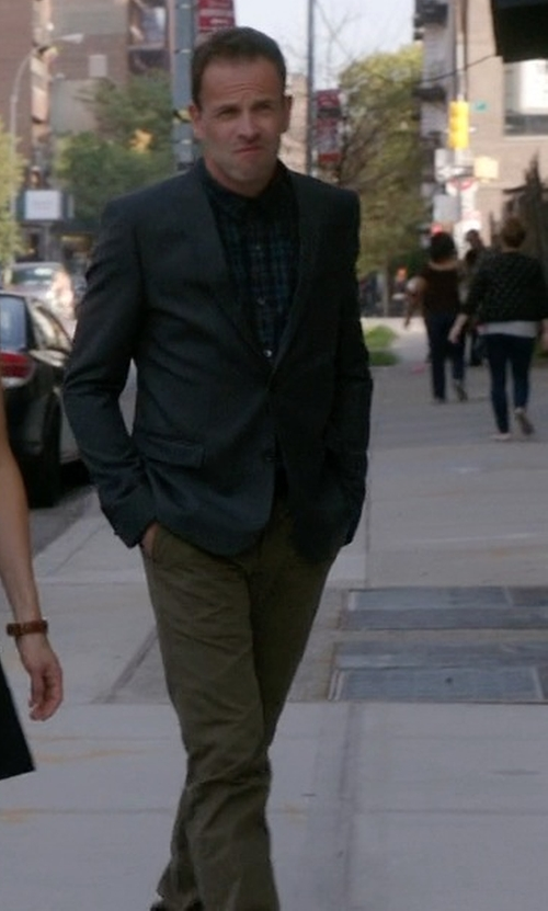 Jonny Lee Miller with Incotex Corduroy Trousers in Elementary