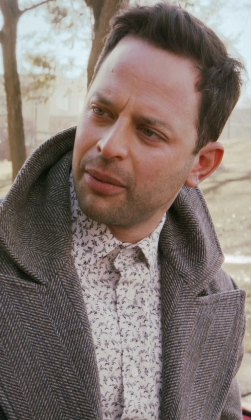 Nick Kroll with Ted Baker Hexagonal Print Button Down Shirt in Adult Beginners