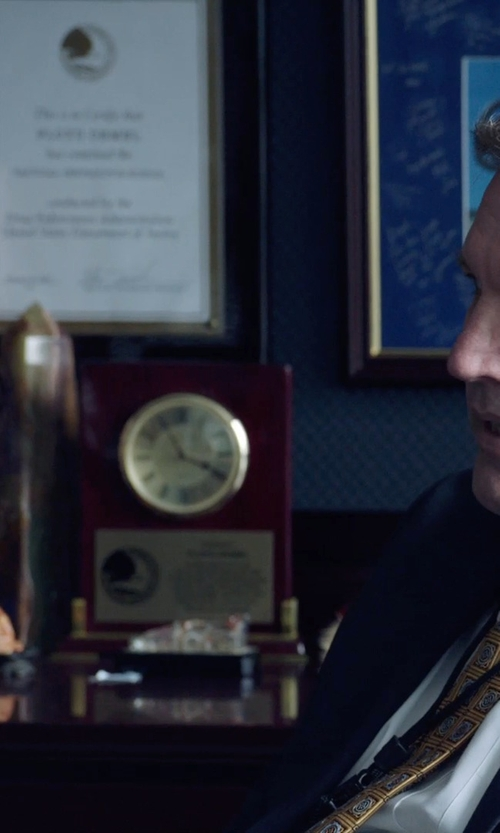 Unknown Actor with Awarding You Aidan Appreciation Rosewood Clock in Sabotage