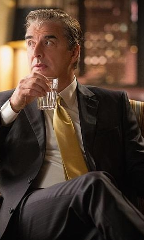 Chris Noth with Hugo 'Heibo' Flat Front Wool Blend Trousers in The Good Wife