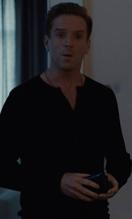 Damian Lewis with Billy Reid Harper Henley T-Shirt in Billions