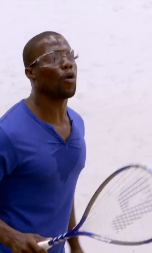 Kevin Hart with Prince TF Attack Squash Racquet in About Last Night