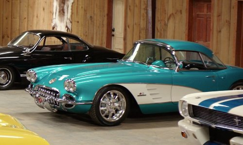 Jon Tenney with Chevrolet 1958 Corvette Coupe in The Best of Me