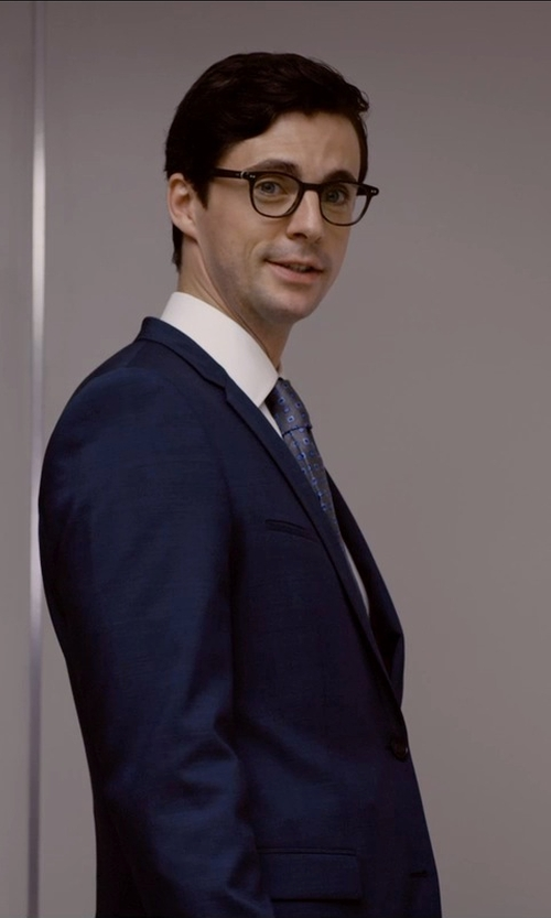 Matthew Goode with Ted Baker London 'Jones' Trim Fit Suit in Self/Less