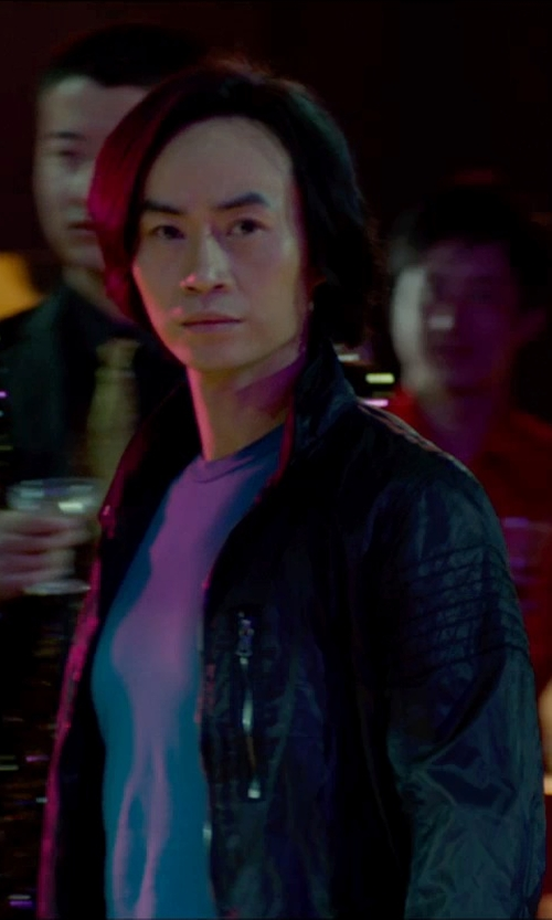 Tiger Hu Chen with Bellstaff Woodburn Coated-Cotton Bomber Jacket in Man of Tai Chi
