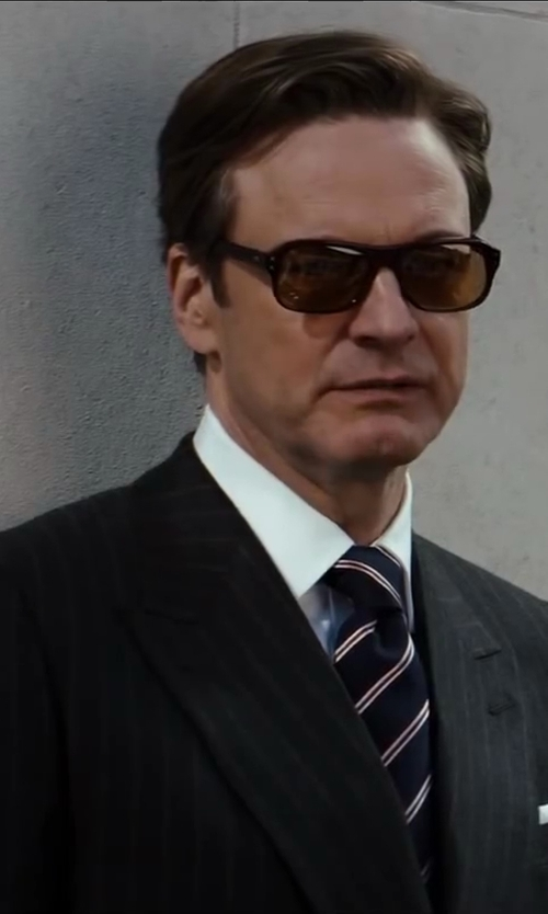 Colin Firth with Drake's Silk Pocket Square in Kingsman: The Secret Service
