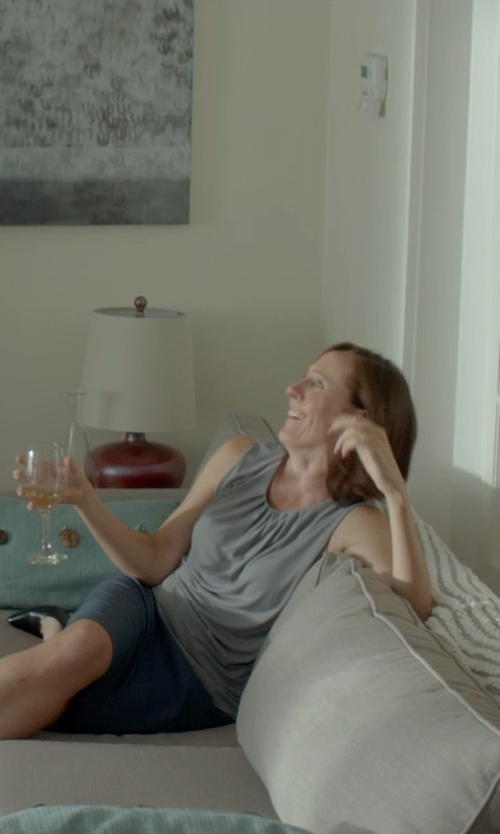 Molly Shannon with Kristensen Du Nord Sleeveless T-Shirt in Me and Earl and the Dying Girl