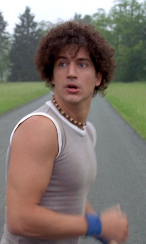 Ken Marino with Neptune Giftware Bead Surfer Style Necklace in Wet Hot American Summer