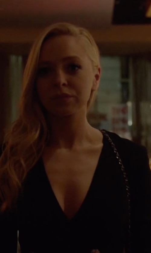 Portia Doubleday with Pierre Balmain Double Breasted Mini Dress in Mr. Robot