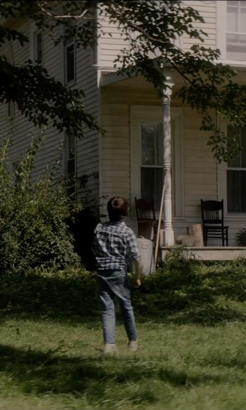 Robert Daniel Sloan with Hanna Andersson Five Pocket Slim Jeans in Sinister 2