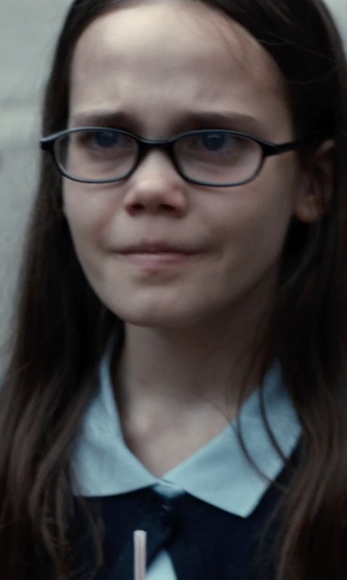 Oona Laurence with French Toast Girls' Plus Uniform Oxford Shirt in Southpaw