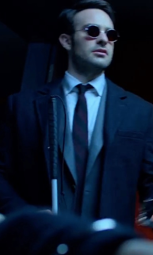 Charlie Cox with PS by Paul Smith Wool-Cashmere Overcoat in Marvel's The Defenders