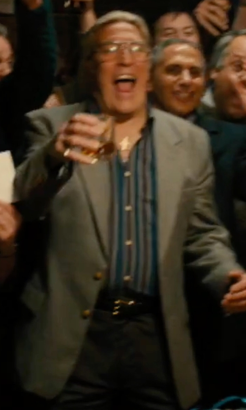 Ciarán Hinds with Robert Geller Striped Shoulder Pleat Shirt in Bleed for This