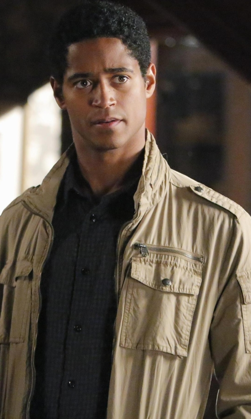 Alfred Enoch with Levi's Men's 4 Pocket Cotton Field Jacket in How To Get Away With Murder