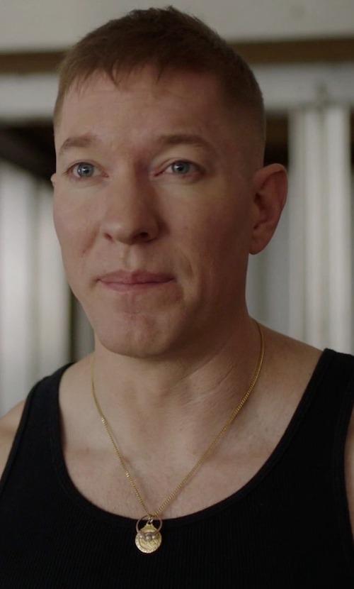 Joseph Sikora with All Saints Astra Tank Top in Power