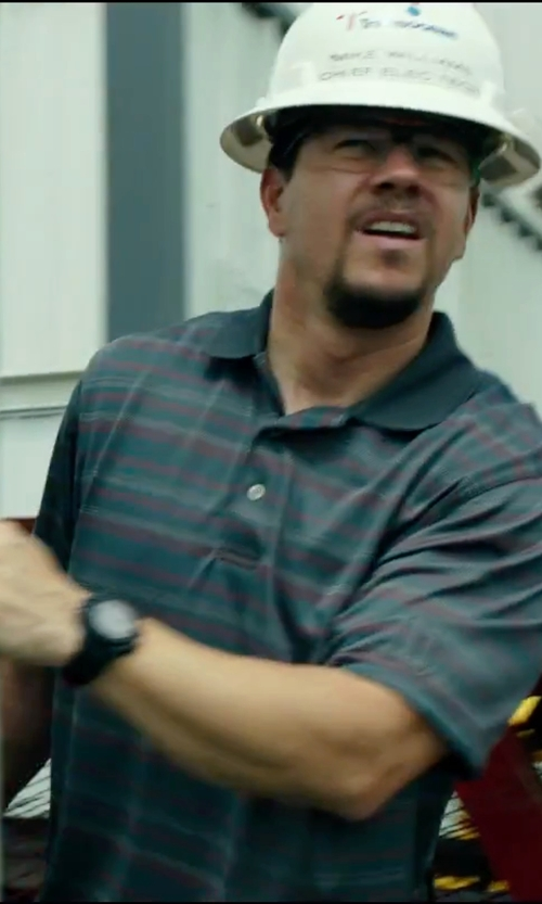 Mark Wahlberg with Red Line Spark Chrono Rubber Watch in Deepwater Horizon