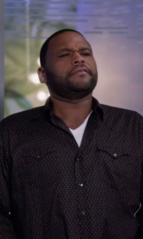 Anthony Anderson with Ralph Lauren Black Label Western Shirt in Black-ish