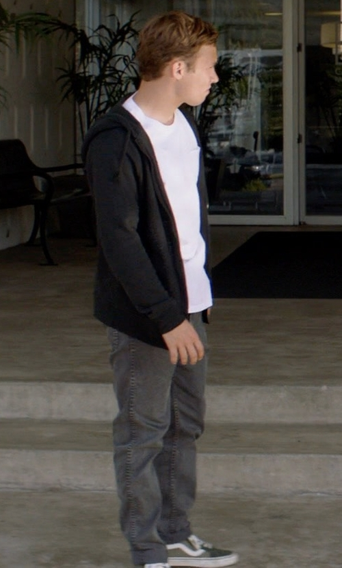 Finn Cole with Vans SK8-Hi Reissue Sneakers in Animal Kingdom