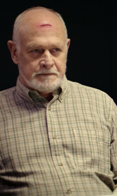 Gerald McRaney with Kenneth Gordon Cotton Plaid Long Sleeve Shirt in The Best of Me