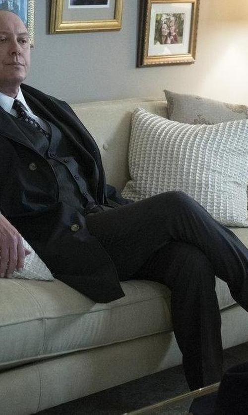 James Spader with Boss Hugo Boss Three Piece Suit in The Blacklist