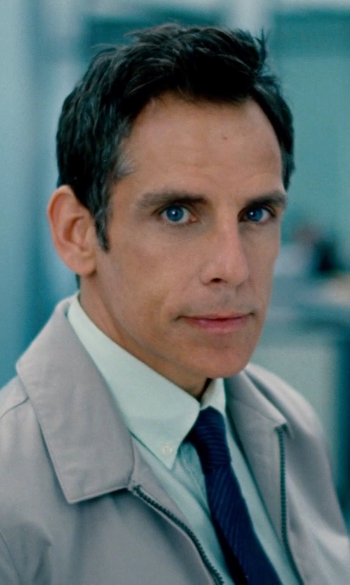 Ben Stiller with Ralph Lauren Bi-Swing Windbreaker Jacket in The Secret Life of Walter Mitty