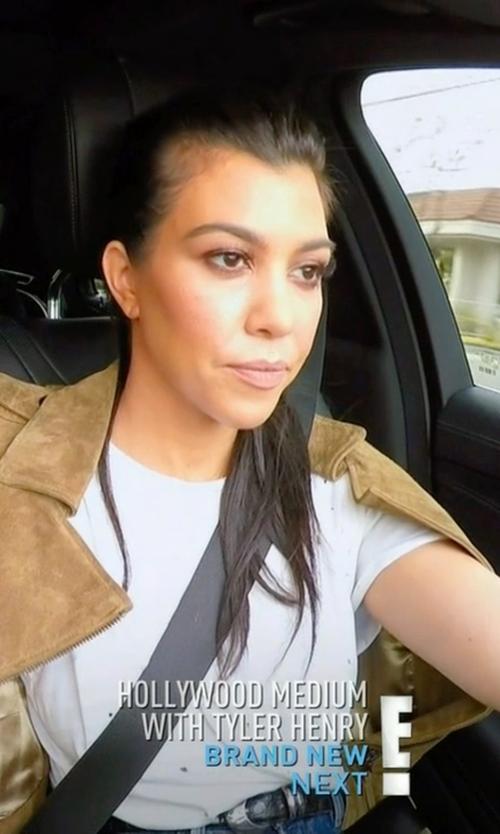 Kourtney Kardashian with IRO Clay Tee Shirt in Keeping Up With The Kardashians