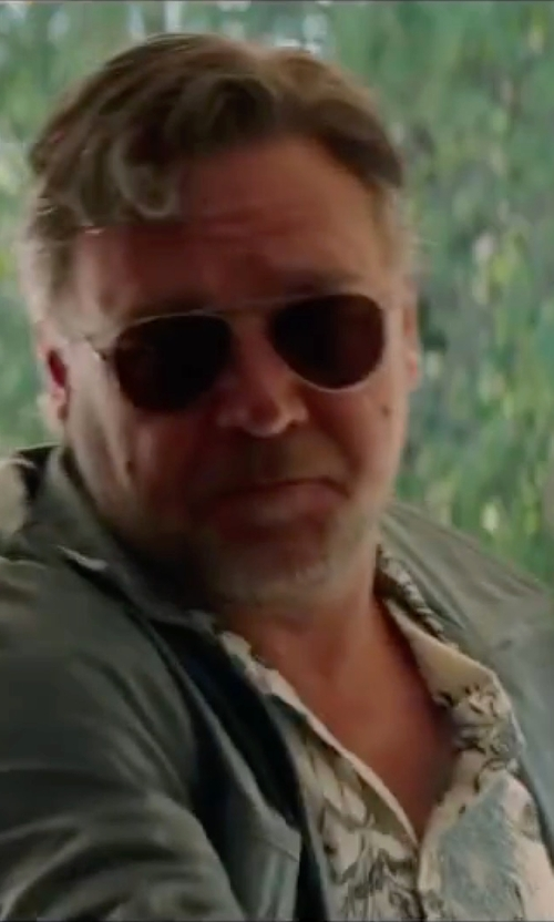 Russell Crowe with Giorgio Armani AR6004 Sunglasses in The Nice Guys