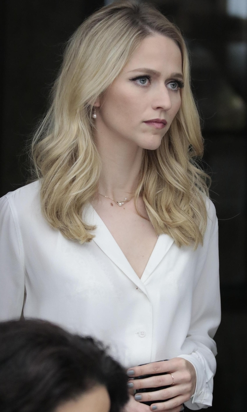 Johanna Braddy with Equipment Adalyn Blouse in Quantico