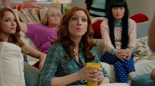 Hana Mae Lee with J. Crew Factory Polka Dot Skimmer Pant in Pitch Perfect 2