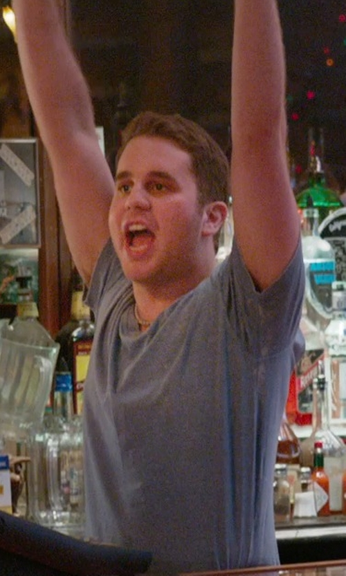 Ben Platt with James Perse Crew-Neck Cotton-Jersey T-Shirt in Ricki and the Flash
