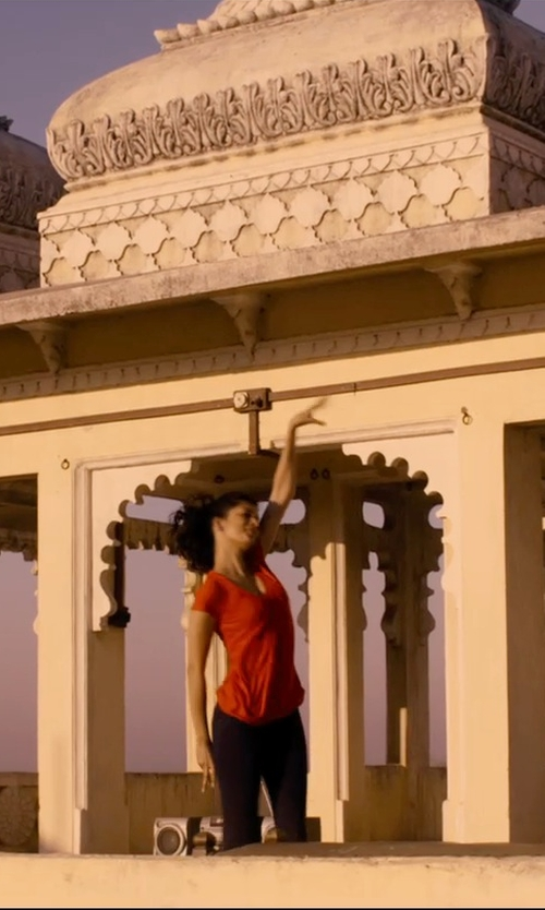 Tena Desae with Plush Fleece-Lined Matte Spandex Legging in The Second Best Exotic Marigold Hotel