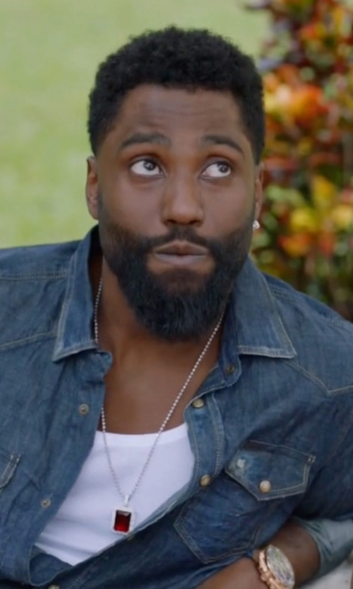 John David Washington with Kyboe Stainless Steel Chronograph Watch in Ballers