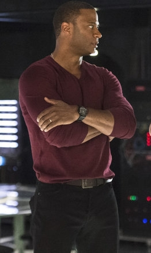 David Ramsey with 1901 Mélange Knit Merino Wool & Cashmere Sweater in Arrow