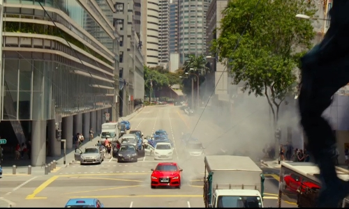 Rupert Friend with Robinson Road Singapore in Hitman: Agent 47