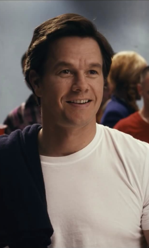 Mark Wahlberg with Apolis Crew Neck T-Shirt in Ted