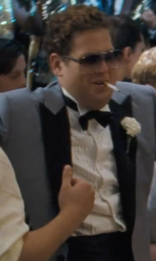 Jonah Hill with HUGO BOSS Cummerbund & Bow Tie in The Wolf of Wall Street