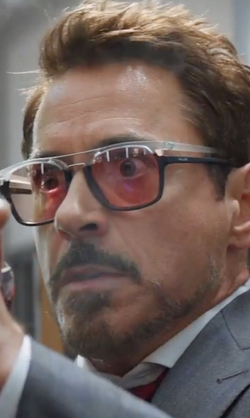 Robert Downey Jr. with Police Neymar Jr. 1 NVAH Sunglasses (Initium Lenses) in Captain America: Civil War