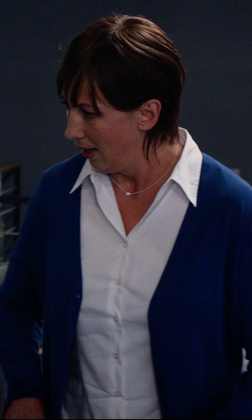 Miranda Hart with Junya Watanabe Comme Des Garcons Button Down Shirt in Spy