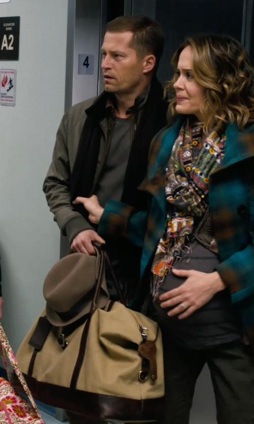 Til Schweiger with Rawlings Canvas Messenger Bag in New Year's Eve