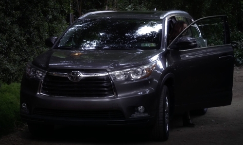 Troian Bellisario with Toyota Highlander Hybrid SUV in Pretty Little Liars