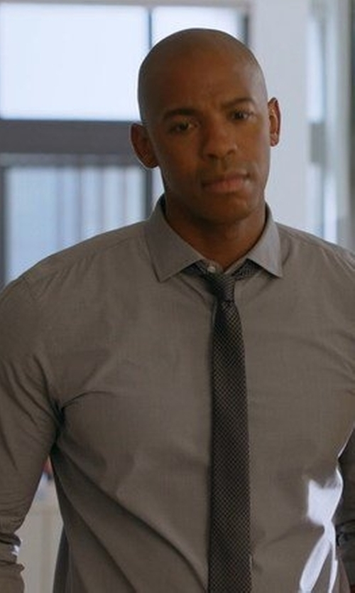 Mehcad Brooks with Michael Michael Kors Regular Fit Non Iron Dress Shirt in Supergirl