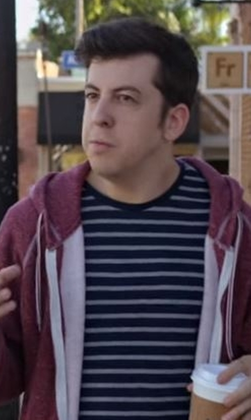 Christopher Mintz-Plasse with Hurley Dri-FIT Edwards Crew Neck T-Shirt in Flaked