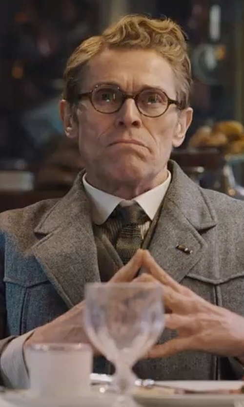 Willem Dafoe with Club Monaco Wool-Cashmere Topcoat in Murder on the Orient Express