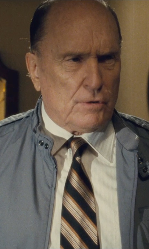 Robert Duvall with Gitman Stripe Silk Tie in The Judge
