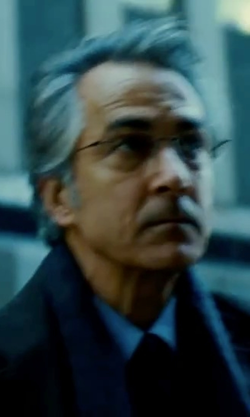 David Strathairn with Vince Camuto Topcoat in The Bourne Ultimatum